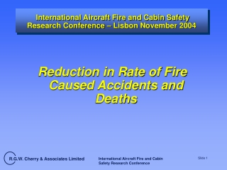 international aircraft fire and cabin safety research conference lisbon november 2004