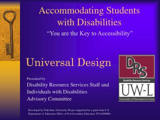 Accommodating Students  with Disabilities