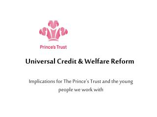 Universal Credit  Welfare Reform