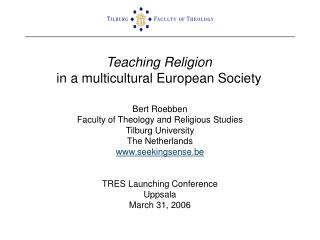 Teaching Religion in a multicultural European Society