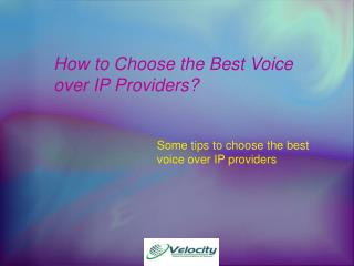 Voice over IP Providers | Managed network service provider
