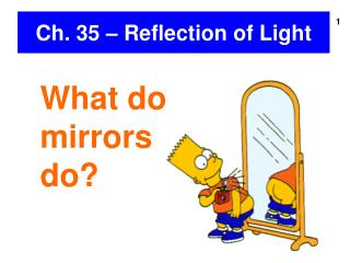 Ch. 35 – Reflection of Light