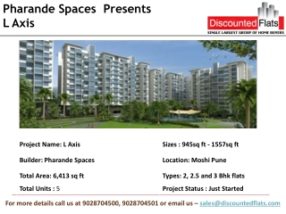 L Axis Pre Launch Project by Pharande Spaces in Moshi Pune