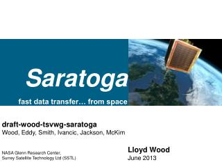 Saratoga fast data transfer… from space