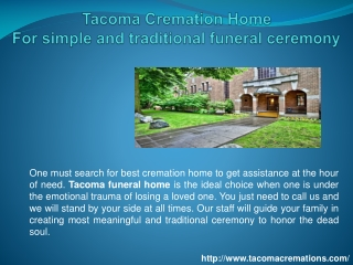 Tacoma Cremation Home