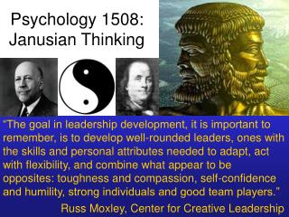 Psychology 1508: Janusian Thinking