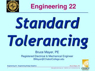 Bruce Mayer, PE Registered Electrical  Mechanical Engineer BMayerChabotCollege