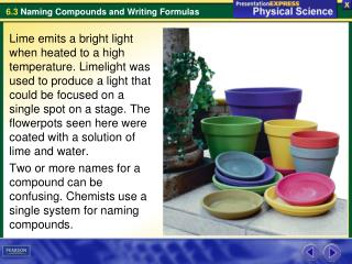 What information do the name and formula of an ionic compound provide?