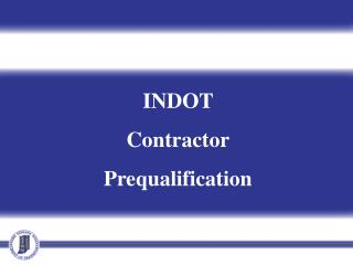INDOT  Contractor Prequalification