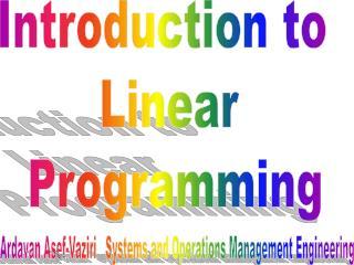 Ardavan Asef-Vaziri Systems and Operations Management Engineering