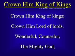 Crown Him King of Kings