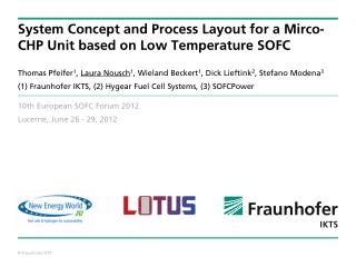 System Concept and Process Layout for a Mirco-CHP Unit based on Low Temperature SOFC