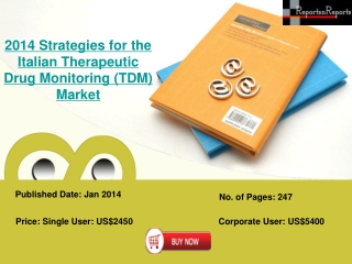 Italian Therapeutic Drug Monitoring Industry Analysis Report