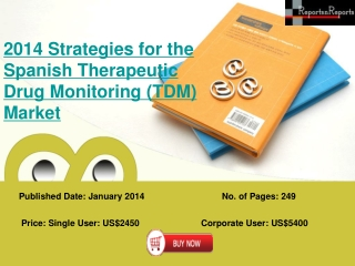 Growth of Spanish Therapeutic Drug Monitoring (TDM) Industry