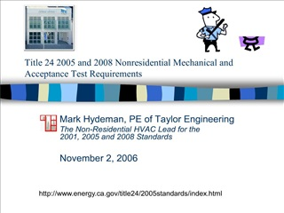 title 24 2005 and 2008 nonresidential mechanical and acceptance test requirements