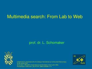 Multimedia search: From Lab to Web