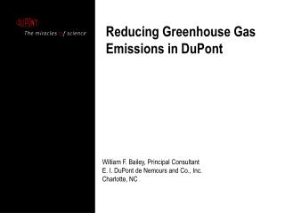Reducing Greenhouse Gas Emissions in DuPont
