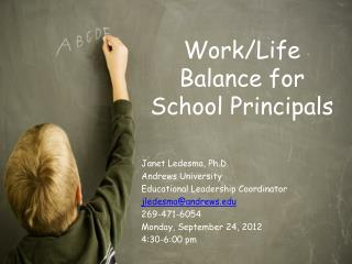 Work/Life Balance for School Principals