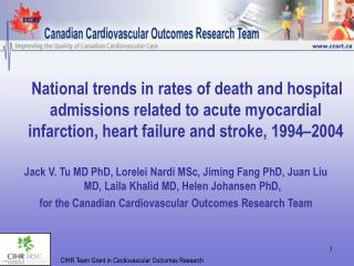 National trends in rates of death and hospital admissions related to acute myocardial infarction, heart failure and stro