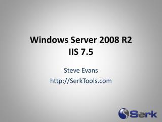 Windows Server 2008 R2 IIS 7.5