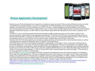 iPhone Development - iPhone Developers - iPhone Mobile Progr