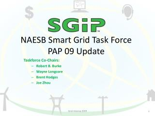 NAESB Smart Grid Task Force PAP 09 Update