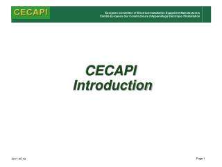 CECAPI Introduction
