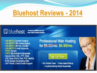 Bluehost Reviews 2014