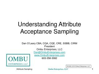 Understanding Attribute Acceptance Sampling