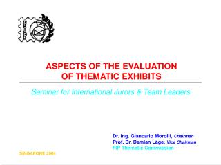 ASPECTS OF THE EVALUATION  OF THEMATIC EXHIBITS