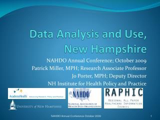 Data Analysis and Use, New Hampshire