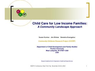 Child Care for Low Income Families: A Community Landscape Approach