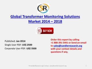 Transformer Monitoring Solutions Market Report 2014-2018