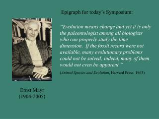 Ernst Mayr (1904-2005)