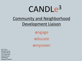 Community and Neighborhood Development Liaison