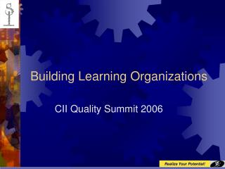 Building Learning Organizations