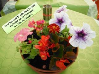 En ce Vendredi 1 er Juin 2012, la table était mise rue de l'Yser pour la «Fête des Voisins»