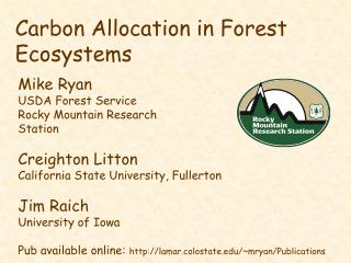Carbon Allocation in Forest Ecosystems