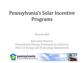 Pennsylvania's Solar Incentive Programs