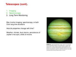 Telescopes (cont).