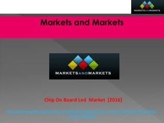 Global Chip on Board (COB) LED Market worth $3.5 Billion by