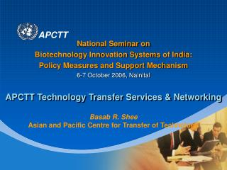 APCTT Technology Transfer Services & Networking