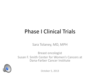 Phase I Clinical Trials