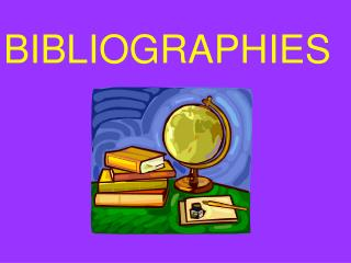 BIBLIOGRAPHIES