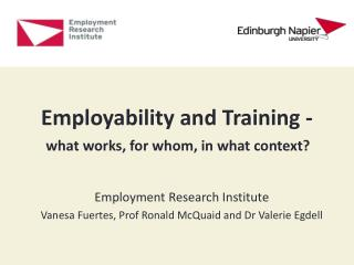Employability and Training -
