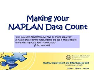 Making your NAPLAN Data Count