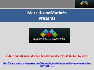 Video Surveillance Storage Market worth $10.41 Billion by 20