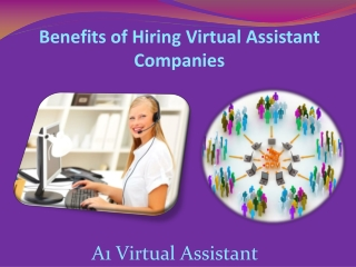 Benefits of Hiring Virtual Assistant Companies - A1 Virtual
