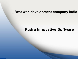 Best web development company in India