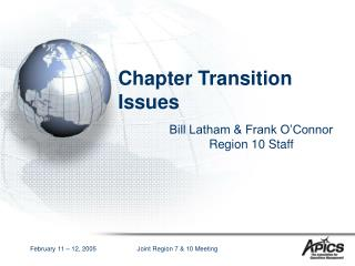 Chapter Transition Issues